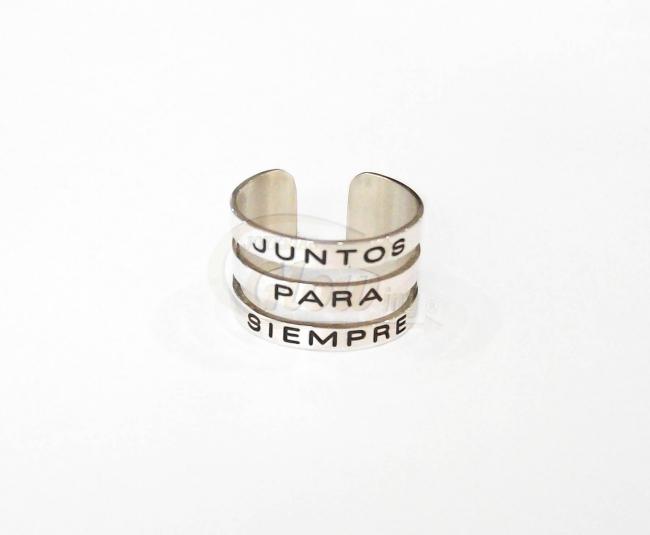 a375f90aa1fd Anillo Cinta Plata 925 3 Nombres Grabados - Anillos - Plata 925 ...
