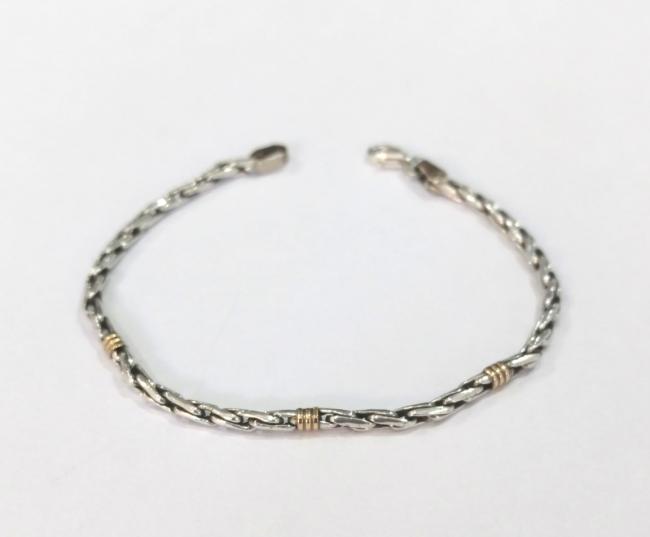 1f761e2eae6e Pulsera plata 925 con 3 apliques de oro 18k - Para Mujeres (Joyas ...