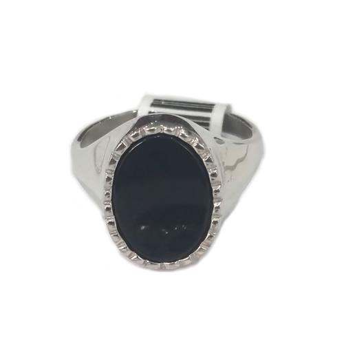 c686085d4e11 Anillo plata Rodinada con piedra negra - Conjuntos Cadena con dije ...