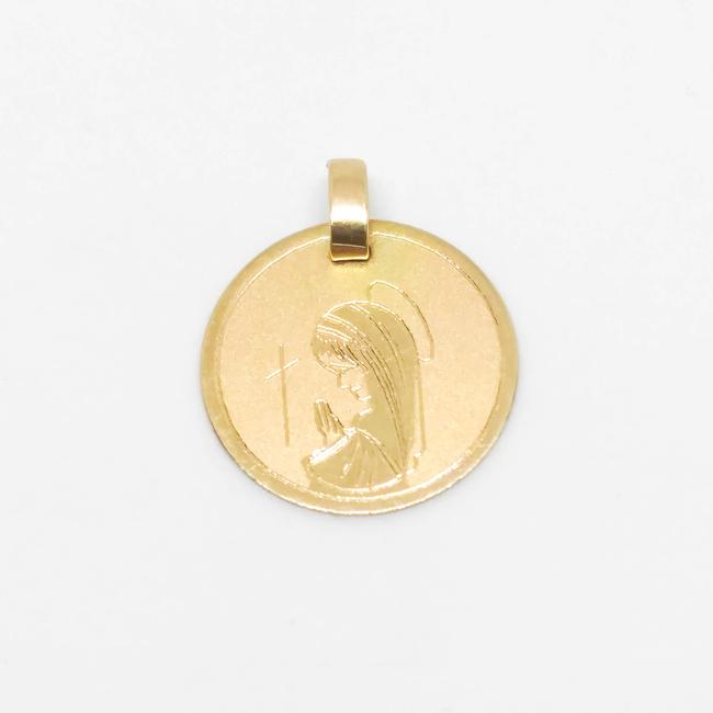 c8a0bbd711f4 Colgante Dije Virgen Niña Oro 18k Macizo 1gr - Colgantes   Medallas ...