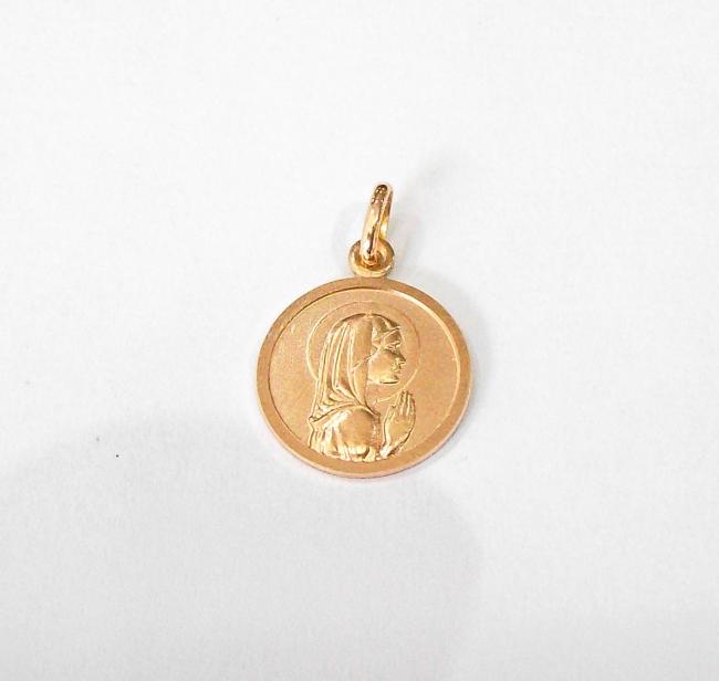 4475fcdca9f7 Colgante de oro 18k Virgen niña 2
