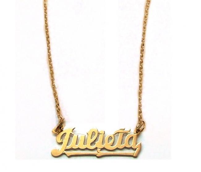 b815e1099d Cadena Y Colgante Nombre De Oro 18k 5,5gr - Conjuntos armados - Oro ...
