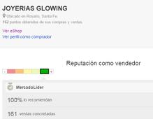 09ebe1de4e63 Opiniones de Nuestros clientes en Mercado libre - Joyerías Glow ing