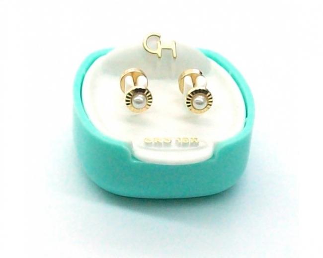 c3be91aa7a1c Abridores Ch Oro 18k Facetado y perla cultivada Cod 118 - Aros ...