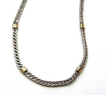 a79bbc818e5d Cadena de plata y oro 18k. Triple plana N°1 - Collares   Cadenas ...