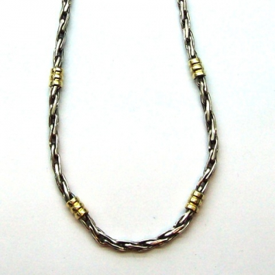 ec91de4ff927 Cadena de plata y oro 18k. Soga N°1 - Collares   Cadenas ...