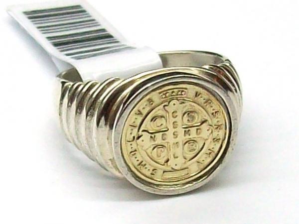 0852d469762 Anillo de plata y oro 18 K San Benito doble - Anillos - Combinados ...