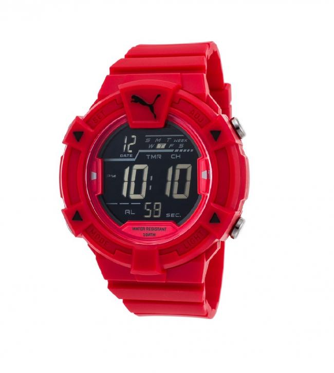 Hombre Pu911381004 Reloj Puma Relojería Rojo Digital SMzGpqLUV