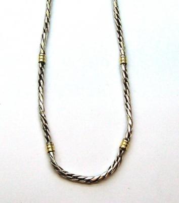 7e38ce418872 Cadena de plata y oro 18k. Triple M Nº1 - Collares   Cadenas ...